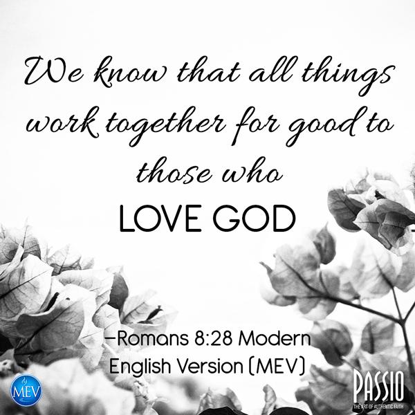 Romans 8:28 MEV
